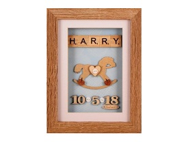 Cute personalised baby rocking horse gift