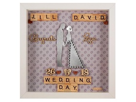 Traditional wedding gift silver hearts