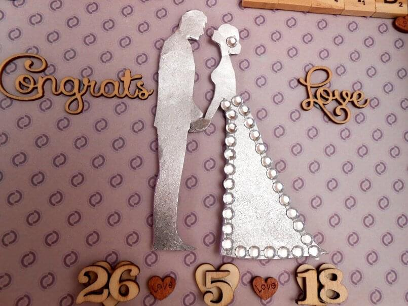 Traditional wedding gift silver hearts zoomed in image