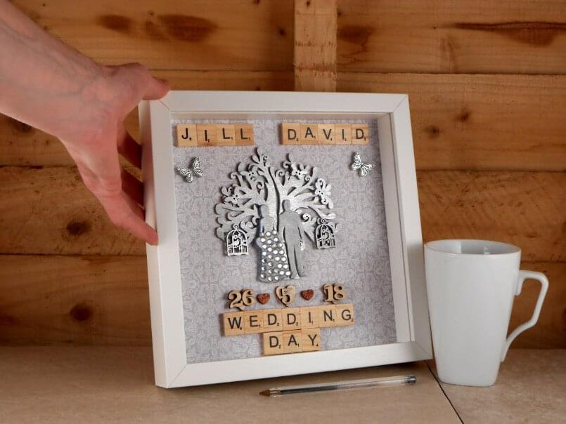Unique wedding gift for couples scale example
